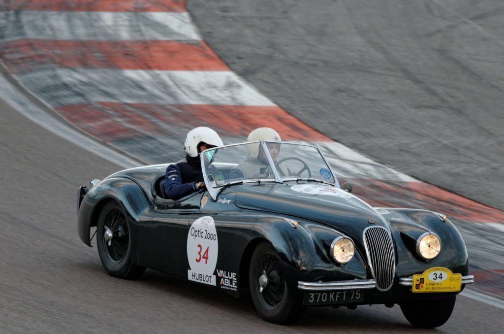 Фото участие в гонках Jaguar XK120