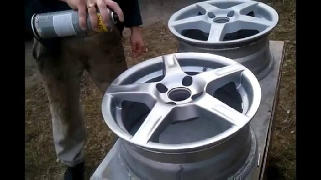 Покраска дисков из балончика