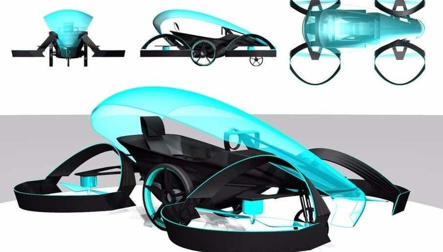 Один из первых концептов летающего авто