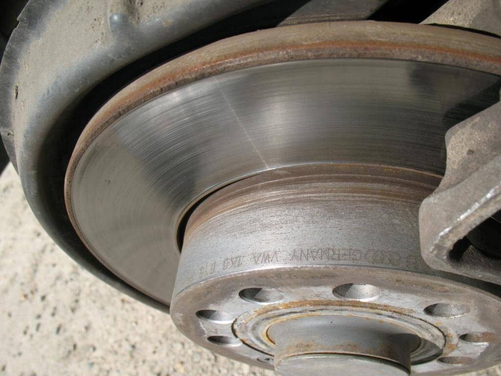 Тормозной диск, после длительного использования