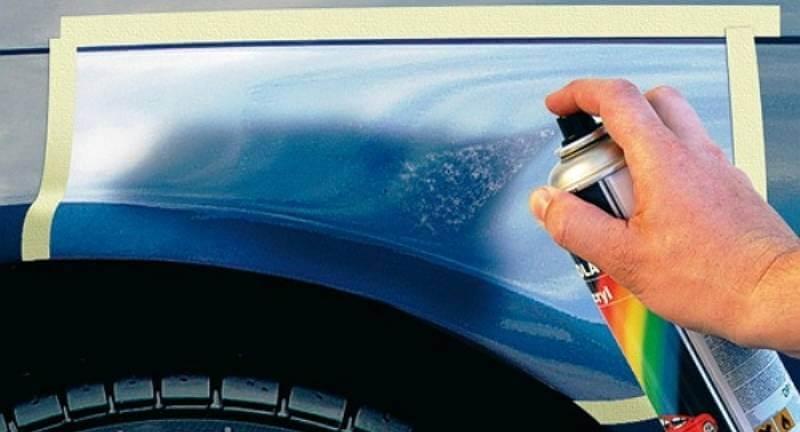 Как закрасить скол краски на машине