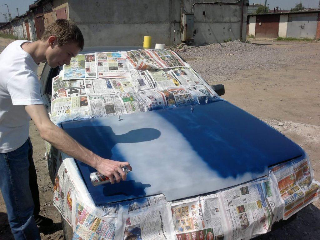 Как покрасить с баллончика автомобиль своими руками