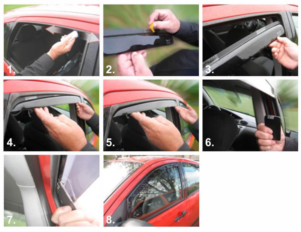 Как сделать ветровики на авто