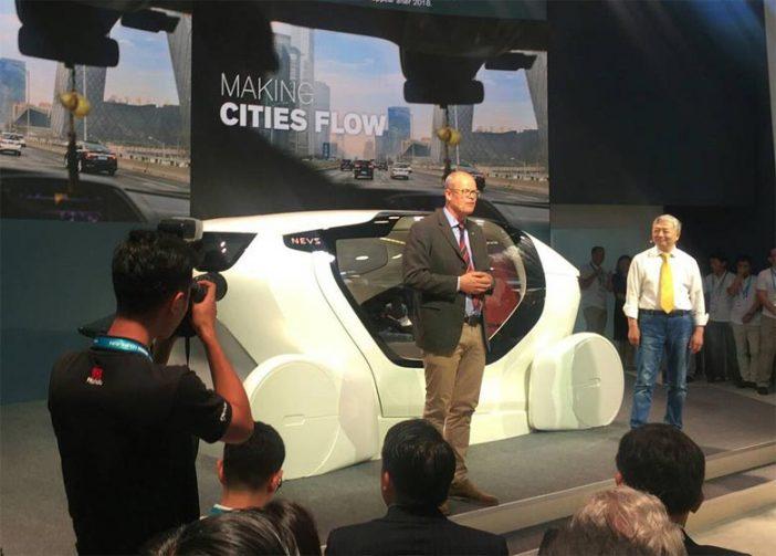 Представленная модель InMotion больше похожа на капсулу из фантастических фильмов, чем на автомобиль