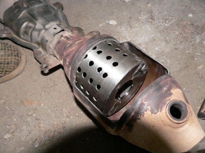 Обманка(пламегаситель) вместо катализатора