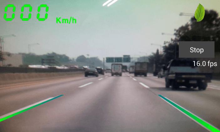 Захват картинки с дисплея LDW системы, с помощью размещенного на передней части автомобиля видео-датчика.
