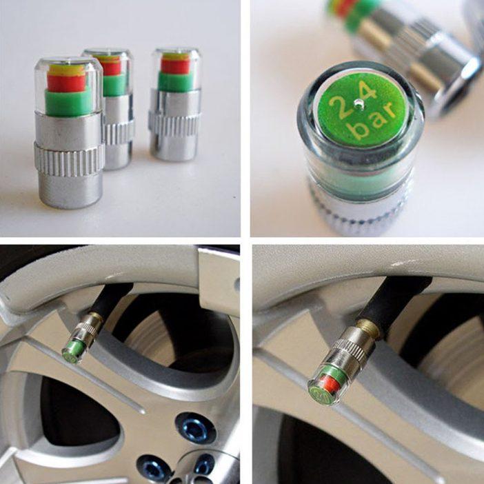 Механический датчик давления в шинах, показывается зеленый красный или желтый огонек индикатора