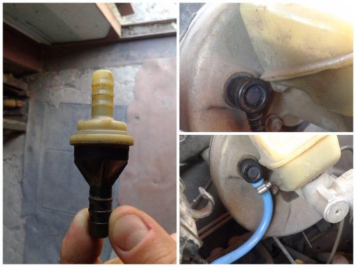 Клапан вакуумного усилителя тормозов и его расположение