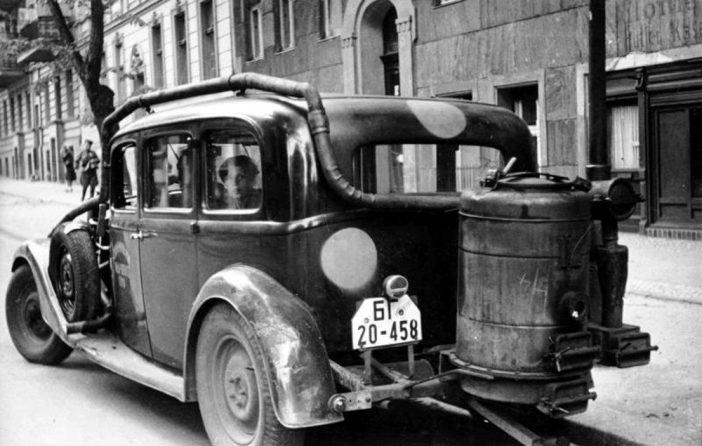 Автомобиль с газогенераторной установкой, Берлин, 1946