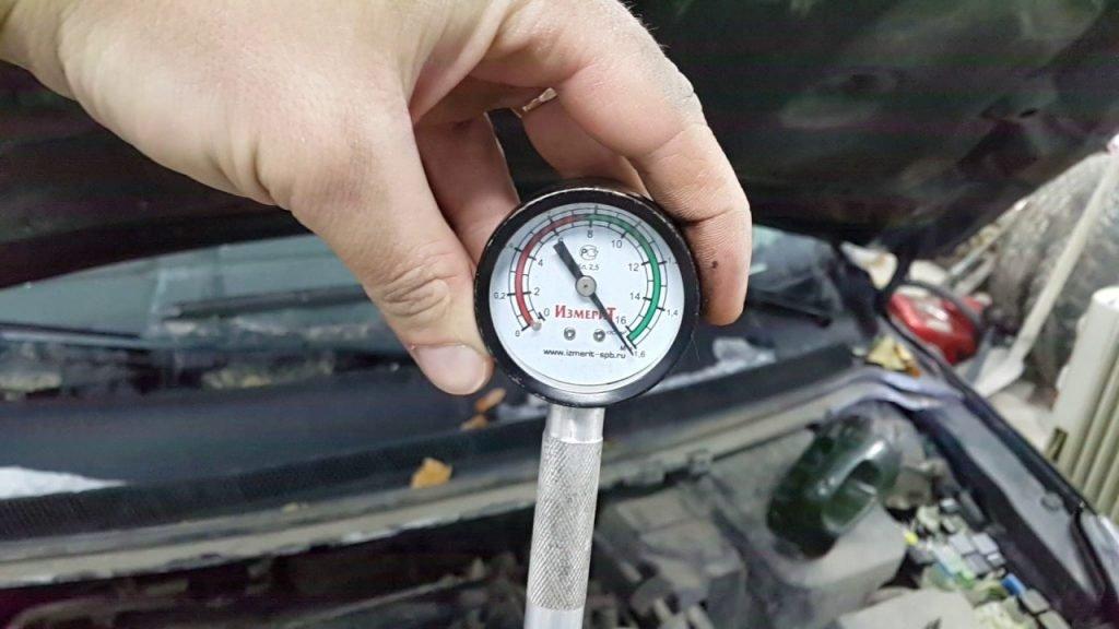 Измерение компрессии дизельного двигателя