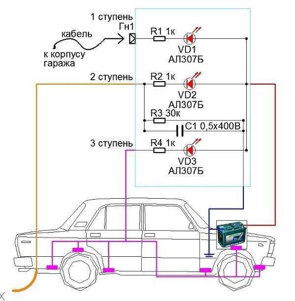 Схема установки катодов в автомобиле